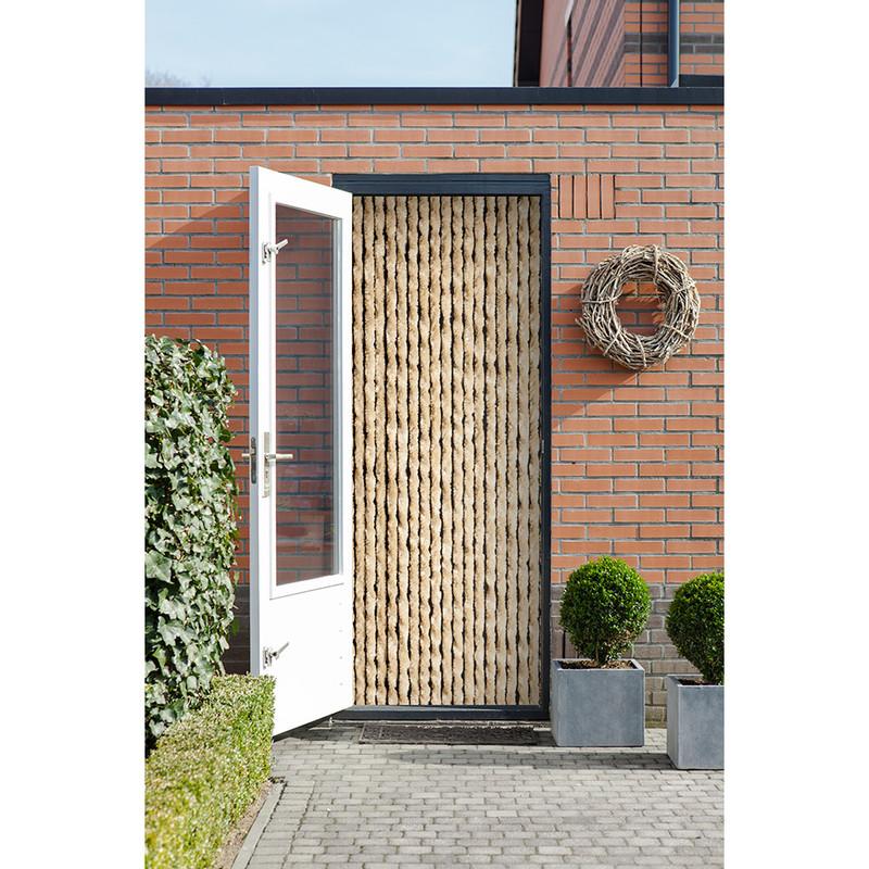 2LIF deurgordijn kattenstaart - beige - 93x210 cm