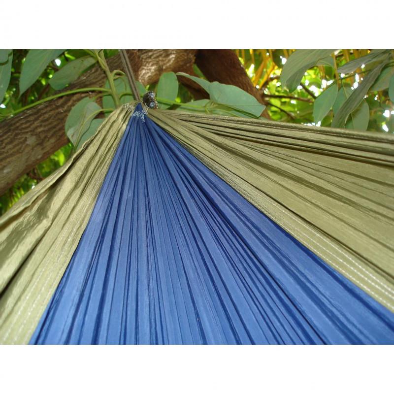 Vivere reishangmat parachute - 2-persoons - marine blauw/olijfgroen