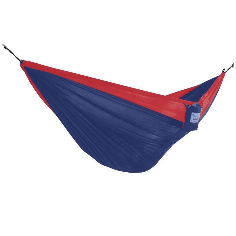 Vivere reishangmat parachute - 2-persoons - marine blauw/rood