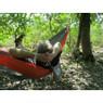 Vivere reishangmat parachute - 2-persoons - grijs/oranje
