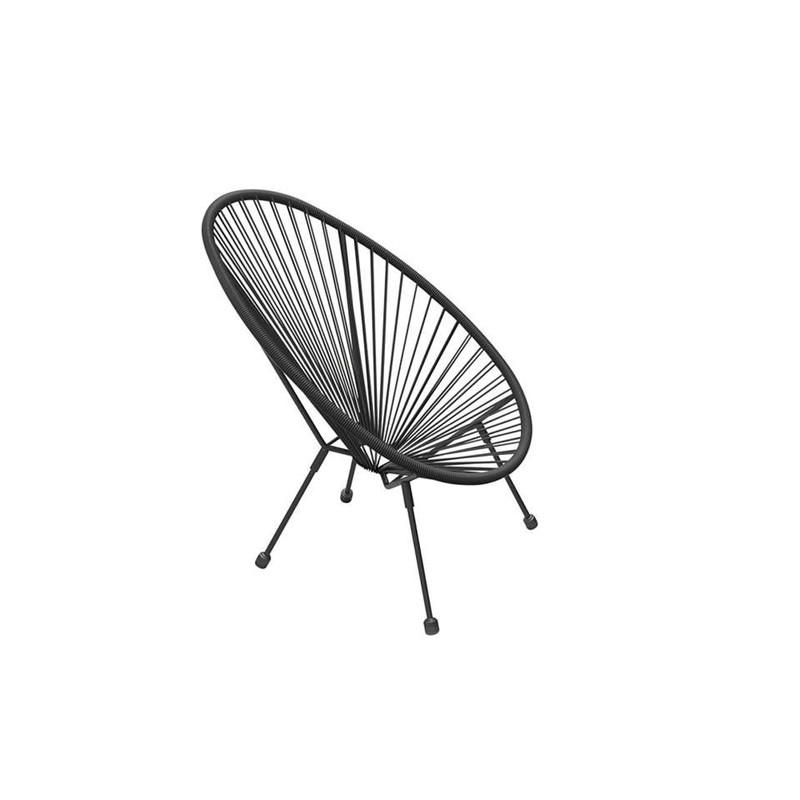 Outfit kinder loungestoel Arden 2 - zwart