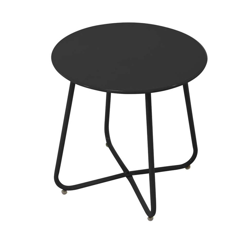 Outfit bijzettafel Borren - 45x45 cm - zwart