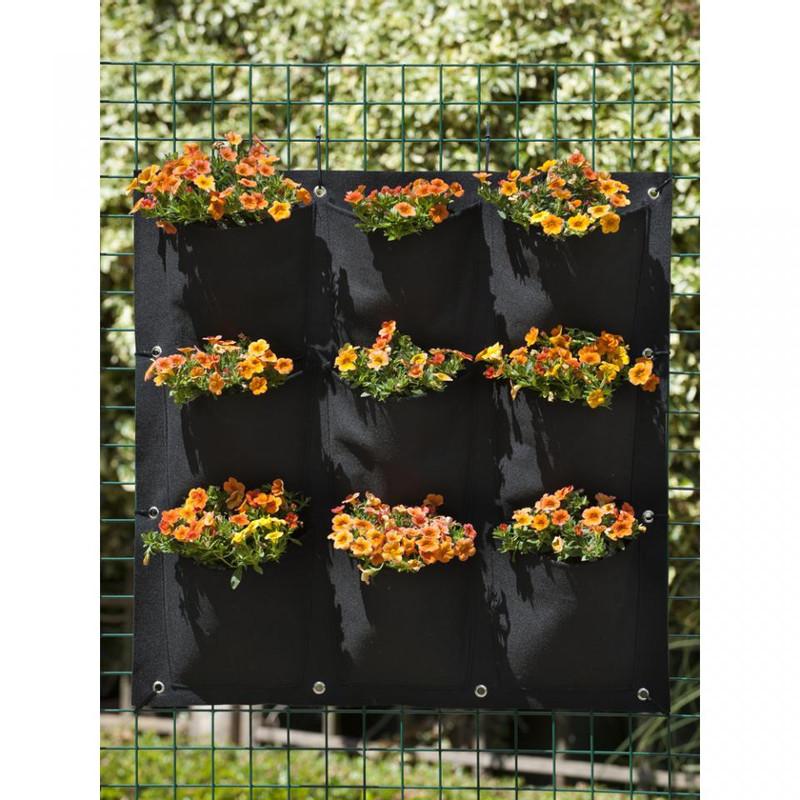 Nature plantentas - 9 zakken - zwart