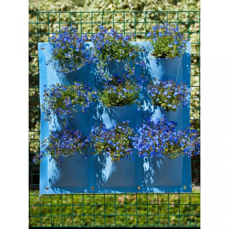 Nature plantentas - 9 zakken - blauw