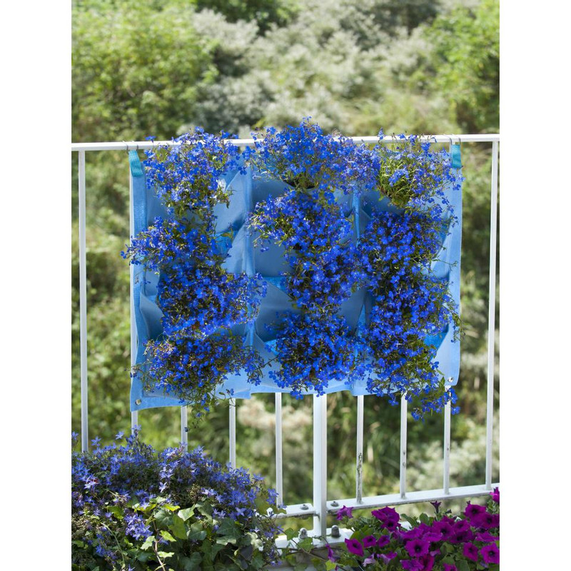 Nature plantentas - 12 zakken - blauw