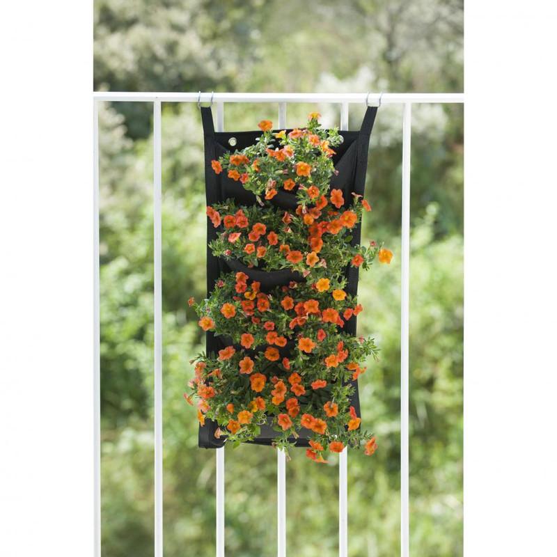 Nature plantentas - 4 zakken - zwart