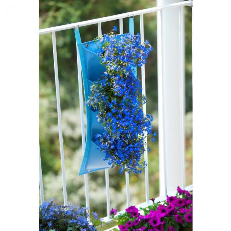 Nature plantentas - 4 zakken - blauw