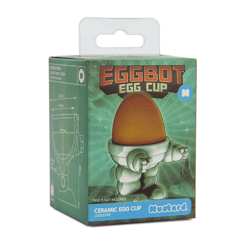Mustard Fun dining eierdop - eggbot - wit