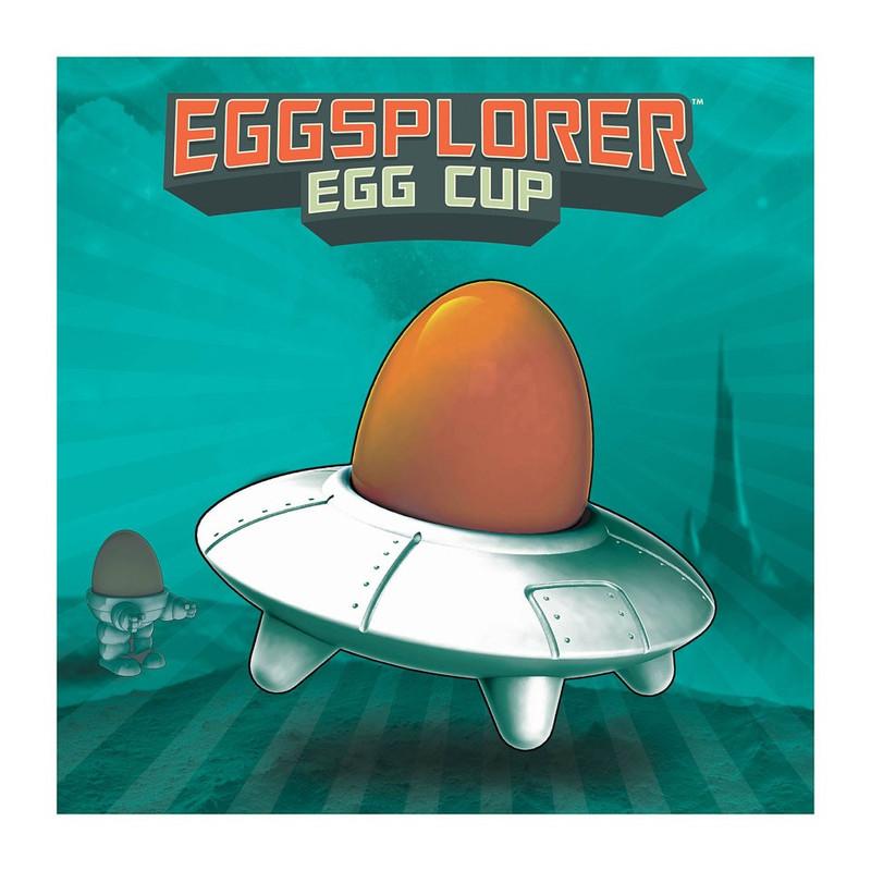 Mustard Fun dining eierdop - eggsplorer - wit