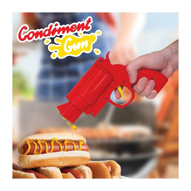 Mustard Fun dining sauspistool gun - rood