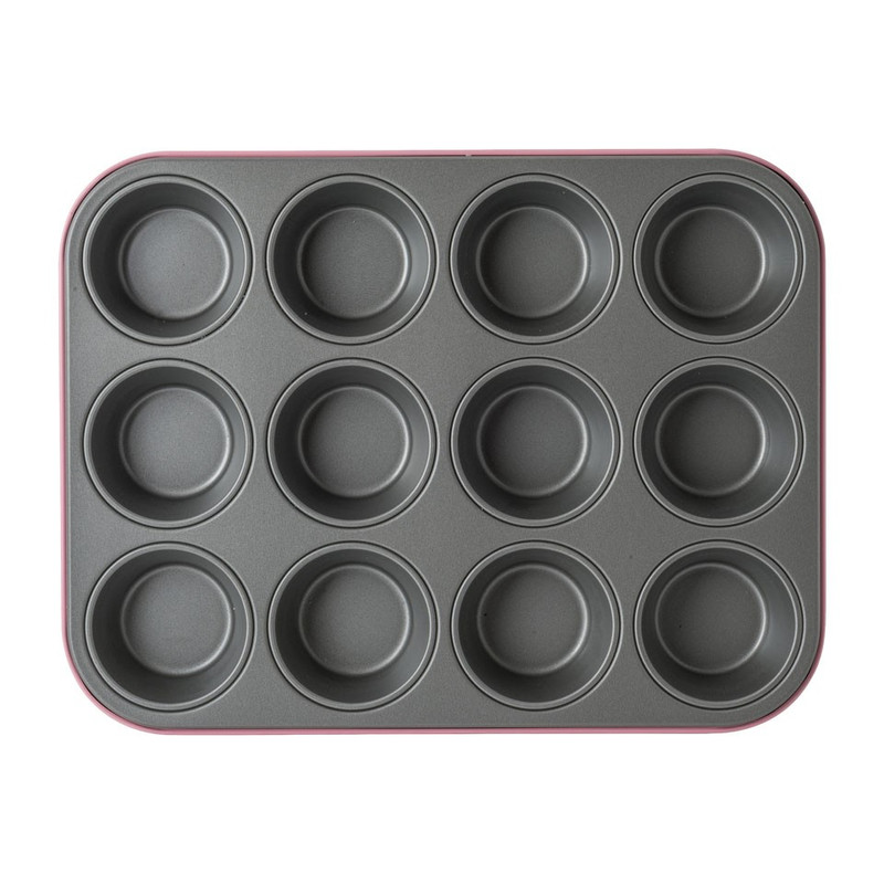 Guardini muffin bakvorm - 12 cups - roze