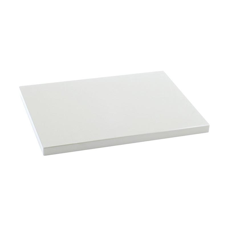 Metaltex snijplank - 38x28x2 cm - wit