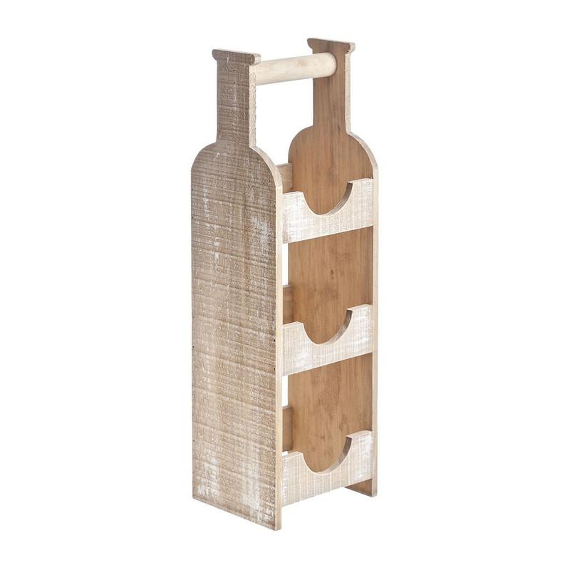 Cosy&Trendy wijnrek whitebrush hout - 15x13x48 cm