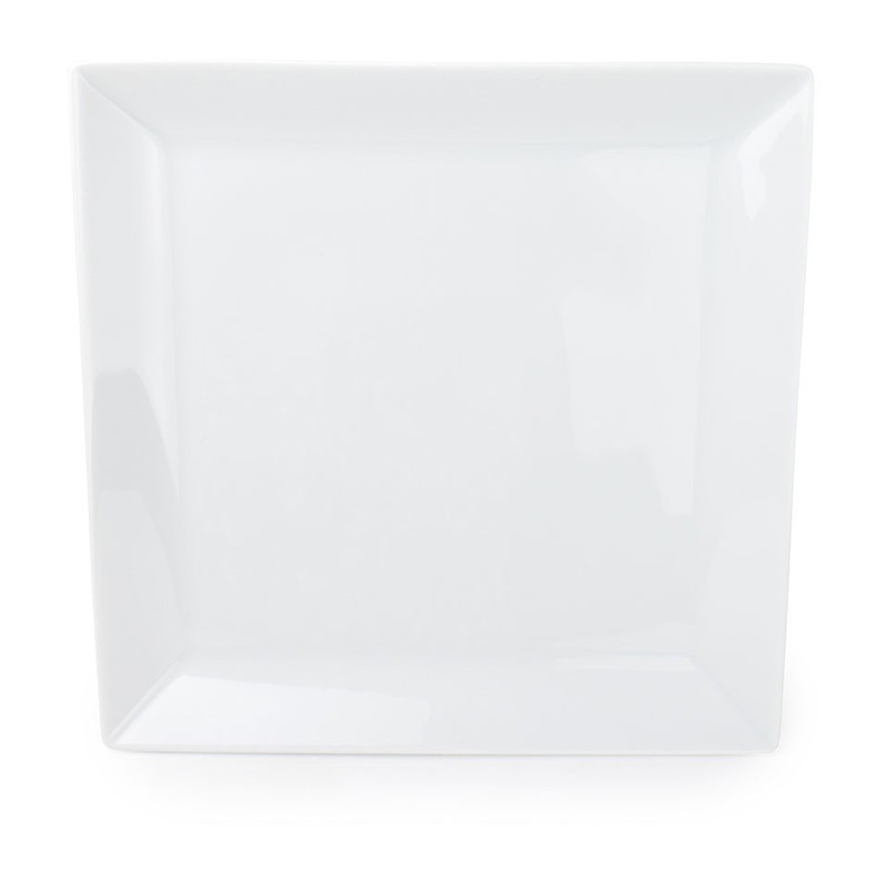 Gebaksbord angular - 16 cm - wit