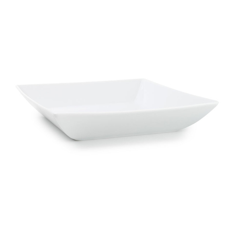Diep bord angular - 21.5 cm - wit