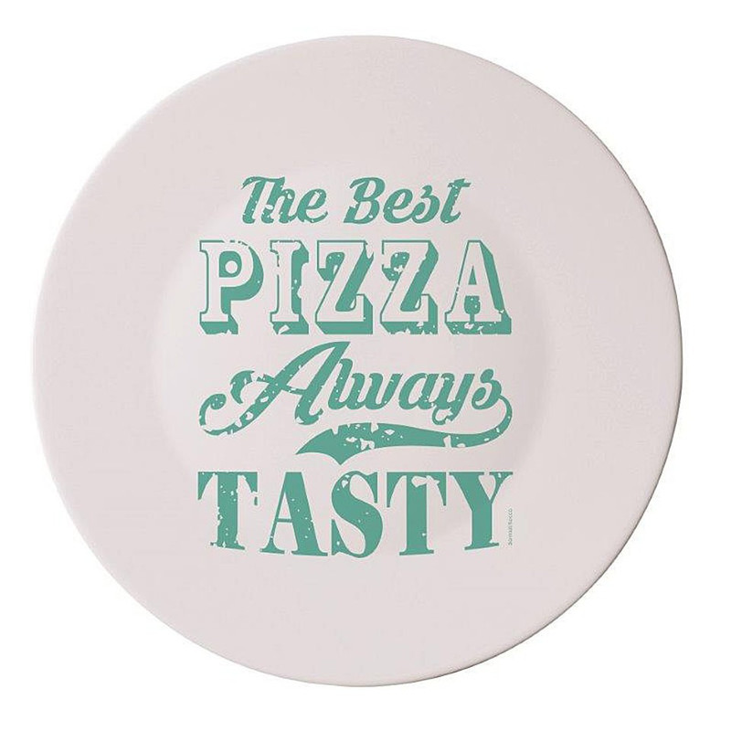 Pizzabord I love pizza - 33 cm - groen