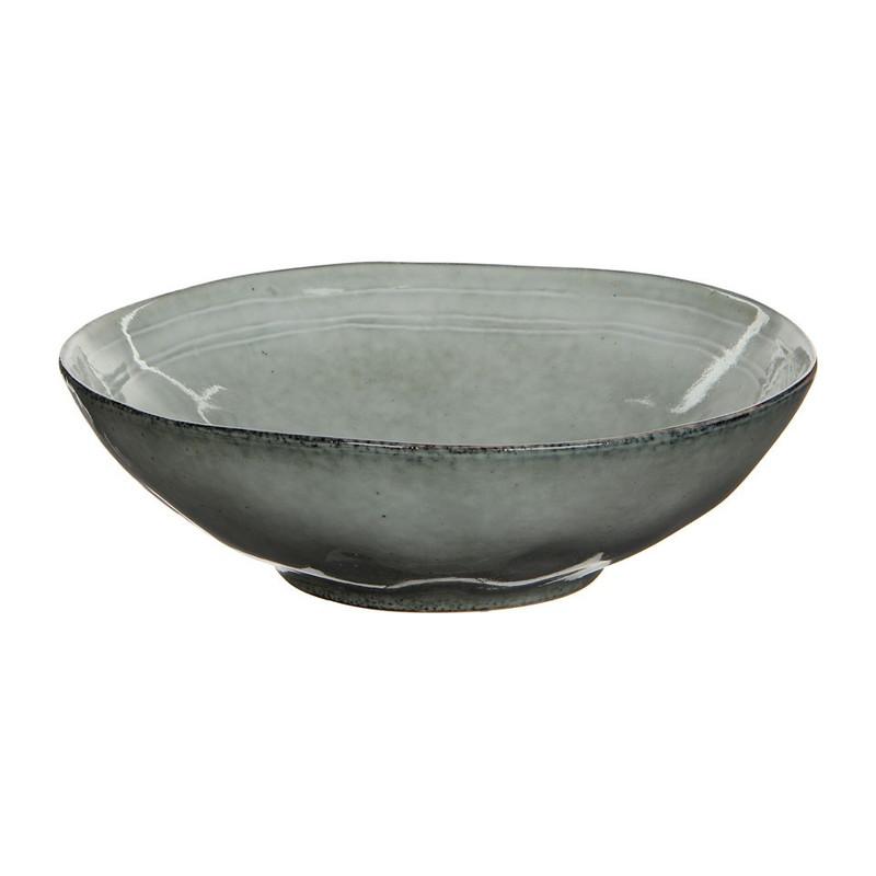 Mica schaal Tabo - 30.5 cm - grijs