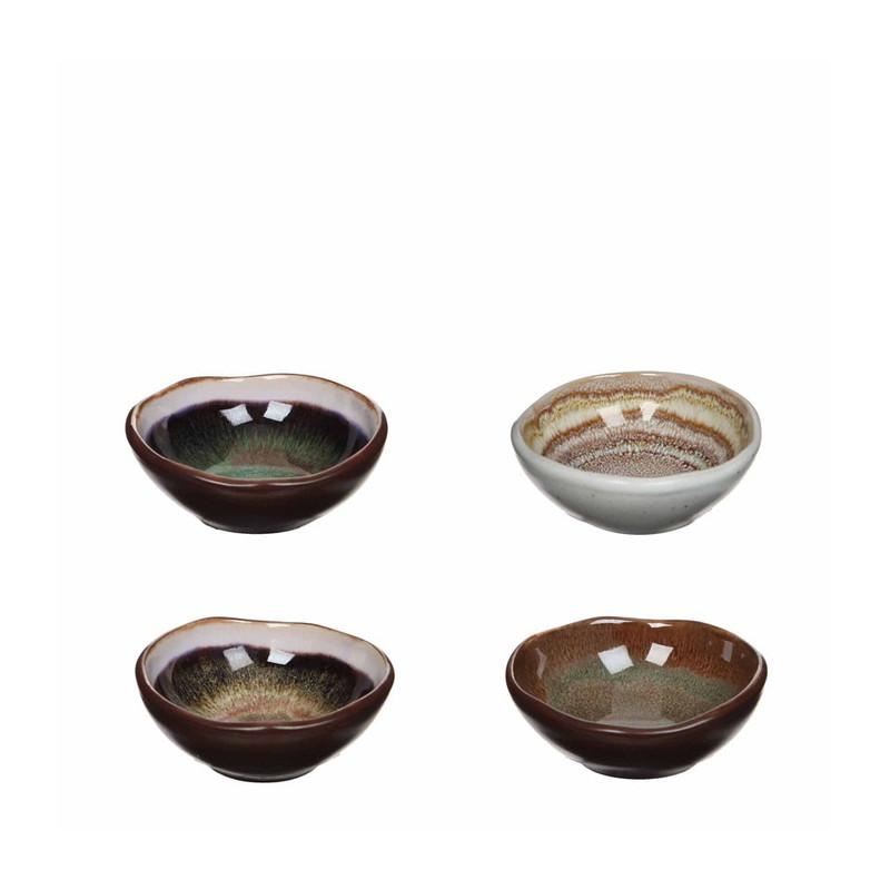 Mica schalen Todi - 8.5 cm - set van 4