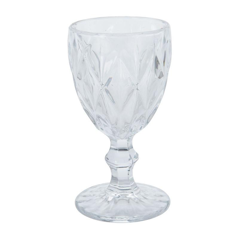 Wijnglas diamant - 24.5 cl - helder