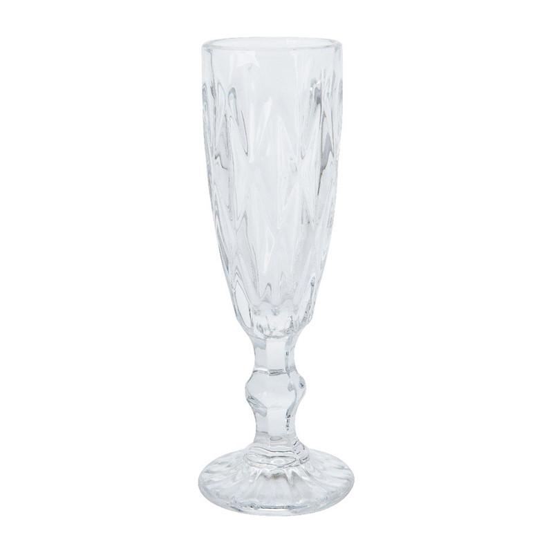 Champagneglas diamant - 17 cl - helder