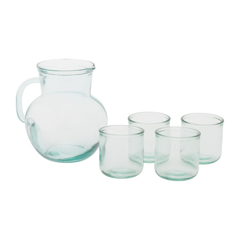 Sapkan met glazen - recycled glas - 2,3 liter